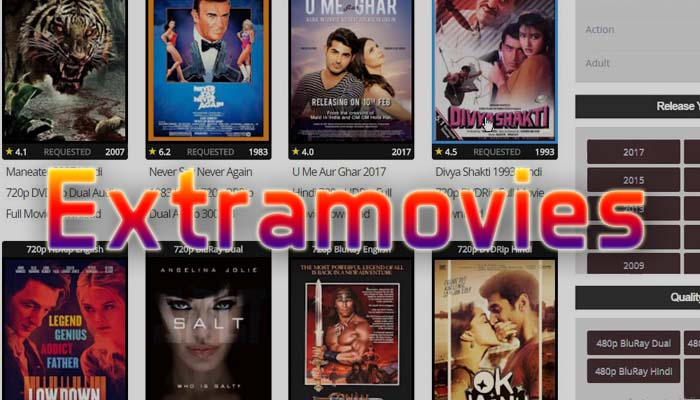 ExtraMovies 2019 – Download Movies Online, Watch Movies Online, Hindi Dubbed