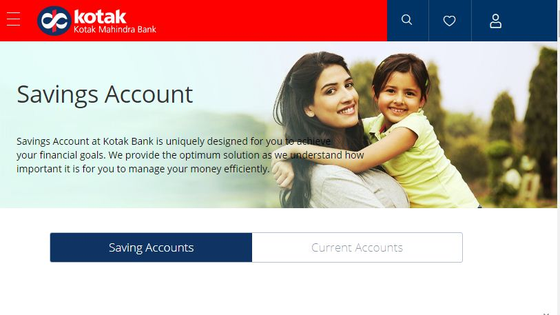 Kotak Nahindra Bank Saving Account